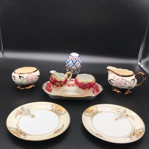 Assorted fine china Lancaster and noritake